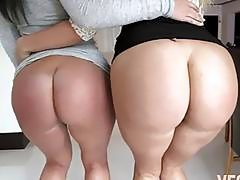Bubble butt honeys Layla Price and Brittany Shae fucked